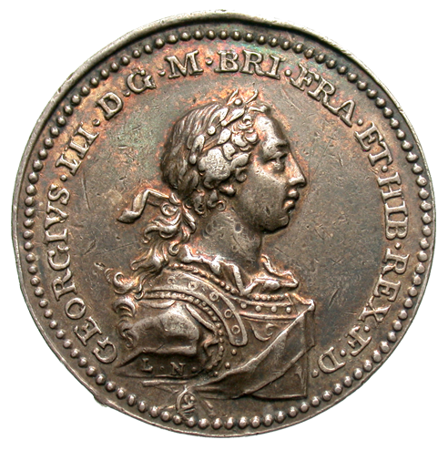 [George III (1760-1820) Great Britain - AR Coronation Medal 35mm, 1761]