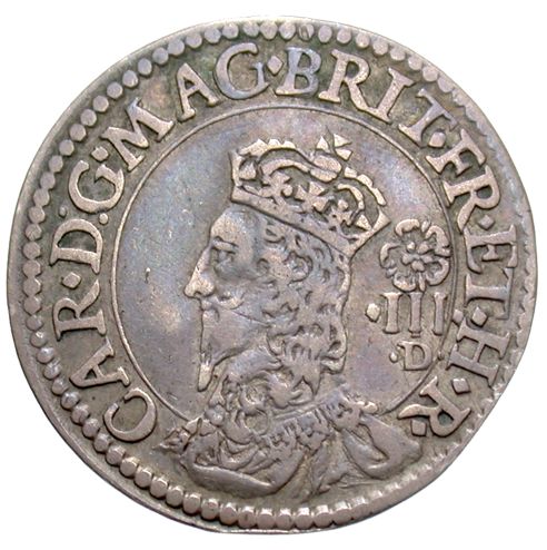 [Charles I (1625-1649) England - Tower Mint AR Pattern Threepence, 1634]